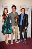 Holland Roden, Tyler Posey and Jeff Davis at the 39th Annual Saturn Awards Press Room, The Castaway, Burbank, CA 06-26-13