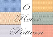 6 In 1 Retro Seamless Pattern