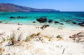 "image of deserted island  - Elafonisi or Elafonissi, ""deer island"" in Greek, is an island with turquoise water in the southwestern corner of the Mediterranean island of Crete, Greece. The island is a protected nature reserve.