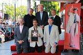 Joe Mantegna with Ed Begley Jr and Paul Reiser at the Peter Falk Star on the Hollywood Walk of Fame Ceremony, Hollywood, CA 07-25-13