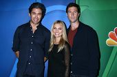 Neal Bledsoe, Spencer Grammer and Pablo Schreiber at the NBC Press Tour, Beverly Hilton, Beverly Hil