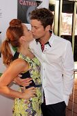 Amy Paffrath and Drew Seeley at L.A.'s Feline Rescue Center's
