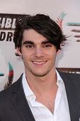 RJ Mitte at the Invisible Children Fourth Estate's Founders Party, UCLA, Westwood, CA 08-10-13