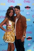 Danielle Jonas and Kevin Jonas at the 2013 Teen Choice Awards Arrivals, Gibson Amphitheatre, Universal City, CA 08-11-13