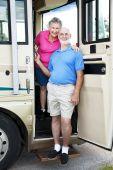 Senior Travelers In Rv