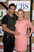 Johnathon Schaech, Julie Solomon at the CBS, Showtime, CW 2013 TCA Summer Stars Party, Beverly Hilto