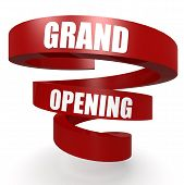 stock photo of helix  - Grand opening red helix banner image with hi - JPG