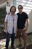 Michael Biehn, Chris Browning on set of