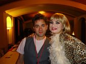 Michael Varrati and Rena Riffel at the Peaches Christ SHOWGIRLS Night of 1000 Showgirls Event featur