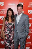 Stephen Rannazzisi and Tracy Rannazzisi at the FXX Network Launch Party and