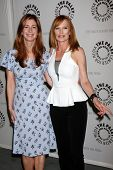Dana Delany and Marg Helgenberger at the PaleyFest Fall Flashback -