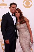 Mark Burnett and Roma Downey at the 65th Annual Primetime Emmy Awards Arrivals, Nokia Theater, Los A