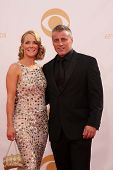 Matt LeBlanc and Andrea Anders at the 65th Annual Primetime Emmy Awards Arrivals, Nokia Theater, Los