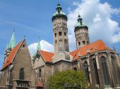 Monastery in Germany from two architectural periods.