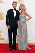 Derek Hough and Julianne Hough at the 65th Annual Primetime Emmy Awards Arrivals, Nokia Theater, Los Angeles, CA 09-22-13