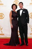 Stephen Colbert and Evelyn McGee-Colbert at the 65th Annual Primetime Emmy Awards Arrivals, Nokia Th