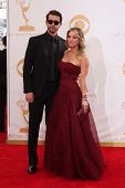 Kaley Cuoco and Ryan Sweeting at the 65th Annual Primetime Emmy Awards Arrivals, Nokia Theater, Los