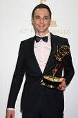 Jim Parsons at the 65th Annual Primetime Emmy Awards Press Room, Nokia Theater, Los Angeles, CA 09-2