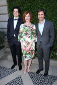 Geoffrey Arend, Christina Hendricks and Eric McCormack at The Rape Foundation's Annual Brunch, Priva