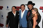 Danny Trejo, Mel Gibson, Robert Rodriguez and Alexa Vega at the