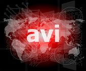 Digital Concept: Avi Word On Digital Screen