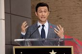 Joseph Gordon-Levitt at Julianne Moore's Star on the Hollywood Walk of Fame Ceremony, Hollywood Walk