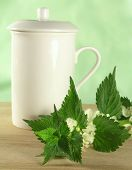 stock photo of flogging  - herbal tea - JPG
