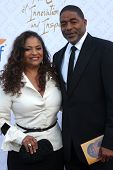 Debbie Allen and Norm Nixon at the 10th Alfred Mann Foundation Gala, Robinson-May Lot, Beverly Hills