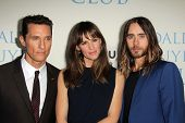 Matthew McConaughey, Jennifer Garner and Jared Leto at the