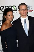 Luciana Damon and Matt Damon at the 23rd Annual Environmental Media Awards, Warner Brothers Studios,
