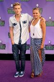 Cody Simpson and Alli Simpson at the Hub Network First Annual Halloween Bash. Barker Hangar, Santa Monica, CA 10-20-13