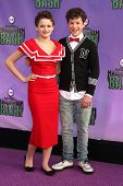 Joey King and Nolan Gould at the Hub Network First Annual Halloween Bash. Barker Hangar, Santa Monica, CA 10-20-13