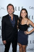 Sebastian Roche and Alicia Hannah at the Elle 20th Annual