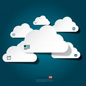 Abstract clouds concept in vector format