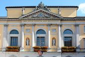 LUGANO, SWITZERLAND - JULY 5, 2014: Town Hall (Palazzo Civico), Lugano. The Town Hall was constructe