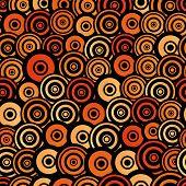 Постер, плакат: Retro Style Seamless Circle Pattern