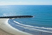 Beach with Dam