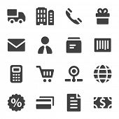 Shopping web icons set