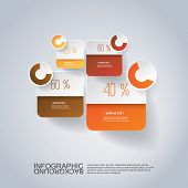 Infographic Design - Rounded Square Design with Diagrams