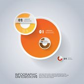 Circle Infographic Design with Pie Chart