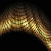 Golden arc formed mosaic background.