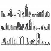 skyscraper, city skyline