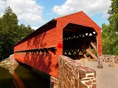 picture of covered bridge  - Sauck - JPG