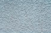Blue rough plaster on wall