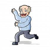 cartoon evil old man