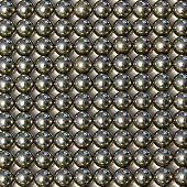 Background Of Small Metal Balls On A Light Background
