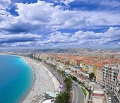 Sea coast of Nice.