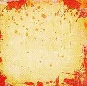 Orange Grunge Background With Stains
