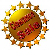 Clearance Sale (circle of golden stars)