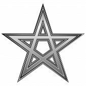 foto of pentagram  - Pentagram icon on white background - JPG